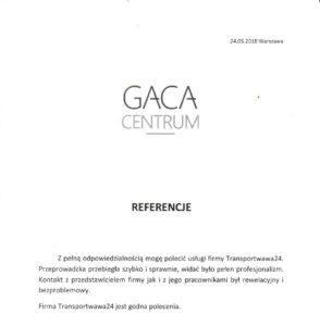 referencje gaca