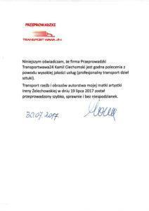 Referencje wysokiej jakości usług transportowych Warszawa